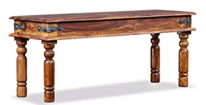 Fuin Large Antique Coffee Table Solid Wood Classic Traditional