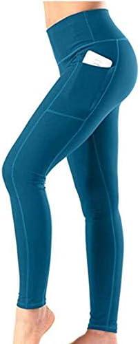 ハイウエストのヨガパンツ、腹部、ポケットフィットネスヨガパンツ (Color : B, Size : M)
