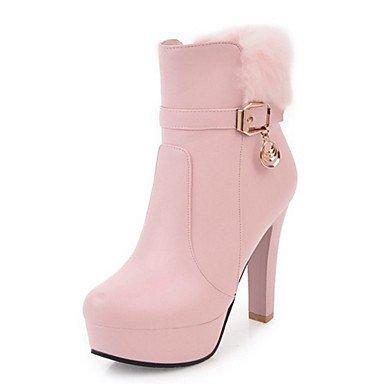 AIURBAG Mujer Zapatos PU Otoño Invierno Confort Innovador Botas de Moda Botas hasta el Tobillo Botas Dedo Puntiagudo Botines/Hasta el Tobillo pink