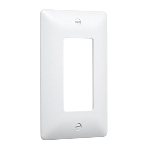 Taymac 5000W Paintable Masque Wall Plate Cover, White, 1-Gang - Rectangular Outlet