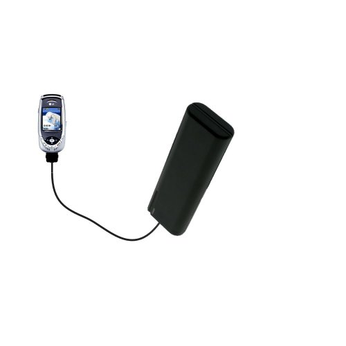 Portable Emergency AA Battery Charger Extender suitable for the LG F7200 - with Gomadic Brand TipExchange (0657 Battery)