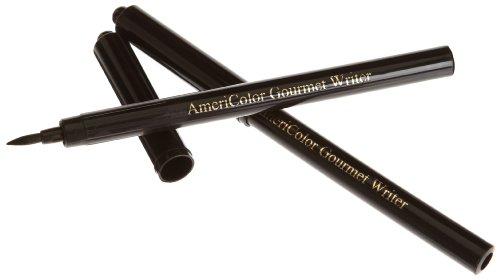 AmeriColor 2 Pack Gourmet Food Writer Set, Black Marker