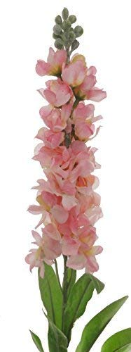 Lily-Garden-Set-of-6-Stems-32-Artificial-Antirrhinum-Snapdragon-Silk-Flowers-Baby-Pink