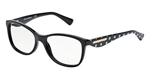 Dolce&Gabbana GOLD LEAF DG3174 Eyeglass Frames 2877-52 - Black