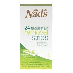 Nad's Facial Hair Removal Strips 24 Each