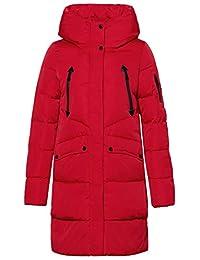 ICEbear Women's Long Down Jacket Windproof Hooded Puffer Coat Parka for Winter