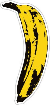 Big Yellow Banana (Size W5.6 x H12 Centimeter) Car Motorcycle Bicycle Skateboard Laptop Luggage Vinyl Sticker Graffiti Decal Bumper Sticker