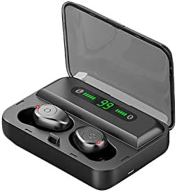 Premium Wireless Earbuds TOA F9 Bluetooth 5.0 with Wireless Charging Case IPX7 Waterproof HiFi Bass Stereo, Noise Cancellation Headphones, Digital LED Screen Compatible for iPhone and Android