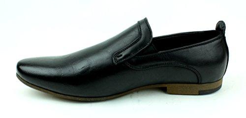 Hombre Nuevo Mocasines Casuales Mocasines Elegante Formal Office zapatos núm. RU Negro