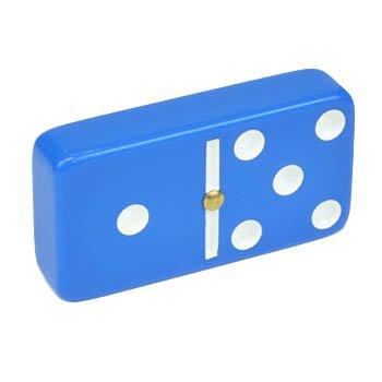 Domino Double 6 Blue Jumbo Tournament Professional Size with Spinners in Elegant Black Velvet Box.