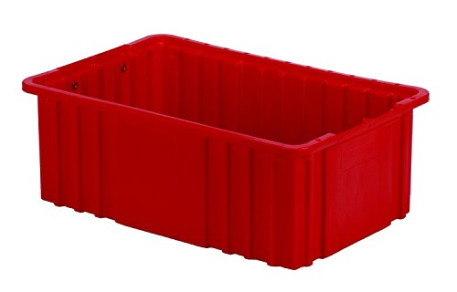 LEWISBins+ NDC2060-SQ Red Divider Box Container, HDPE, 16.5