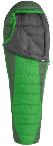 Marmot Never Winter Down Sleeping Bag, Regular-Right, Green, Outdoor Stuffs
