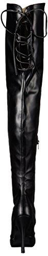 Womens Eve312 Str Leather Faux Bpu Pleaser Black qR54xwCTdq