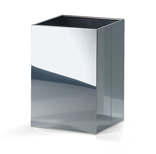 (DWBA Square Open Top Trash Can, Stainless Steel Wastebasket W/O Lid Cover (Polished Chrome) )