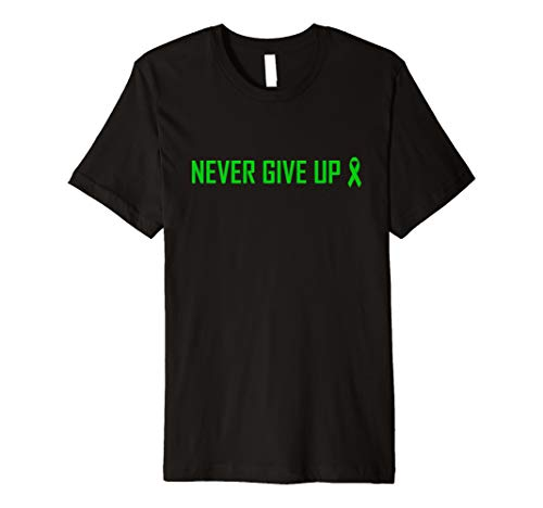 (Never Give Up T-Shirt Cerebral Palsy Awareness Ribbon)