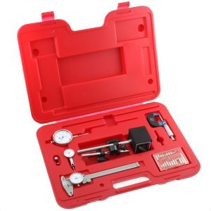 Anytime Tools Machinist 6 pc Inspection Tool Set - Dial Caliper - Micrometer - Magnetic Base - Test Indicator - Dial Indicator