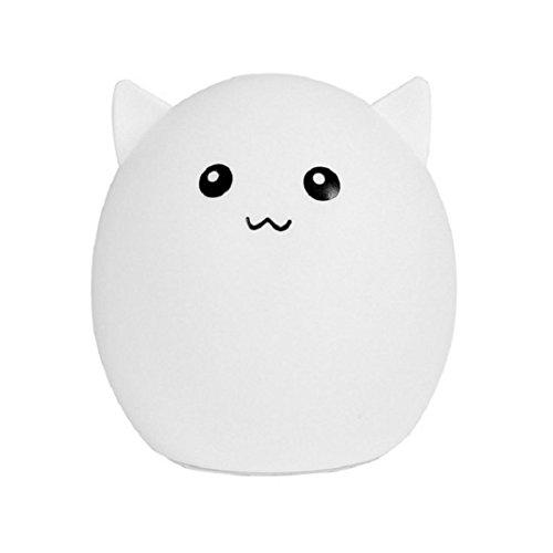 Price comparison product image Mchoice Lovely Pig Smile Face Night Light Children Bedroom Decor Mini LED Lamp Bulb (C)