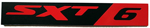24Designs Compatible Sxt6 Black Red Vinyl Emblem