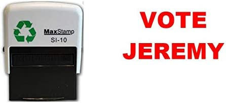 Stem Jeremyzelf inkt stempel 36 x 13mm rode inkt