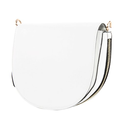 Lookat - Crossed Bag For White Women - White