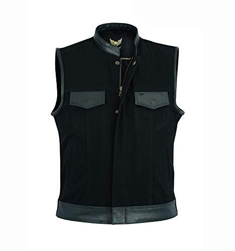 Gilet in jeans con tasche per pistola Black Sons of Anarchy