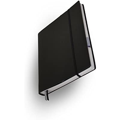 Whitebook Tailored Notebook  Standard S001-L  leather cut  black  240 pp  Paper FSC  fits iPad  refillable modular content booklets  Moleskine