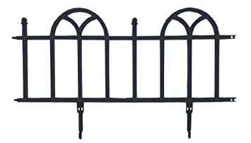 Easy Gardener Landscape Edging Pound In Decorative Edging (Looks Like  Wrought Iron) Black,
