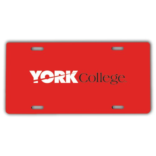 York College License Plate 'Official Logo' by CollegeFanGear