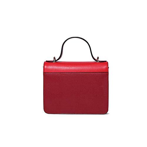 Rivetto Small Multi Personality Retro Wild New Square Flip Function Fashion Shoulder Red 2018 Bag Women Messenger Cucito Baifuren Bag wHWZTgqwv