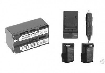 Battery + Charger for Sony NEX-FS100UK, Sony HDR-AX2000, ...