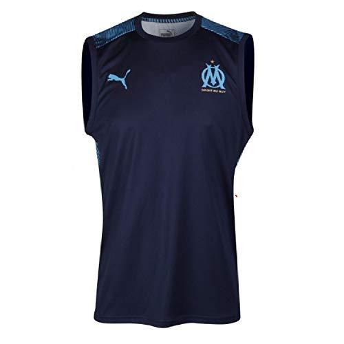 2019-2020 Marseille Sleeveless Football Soccer T-Shirt Jersey (Peacot)