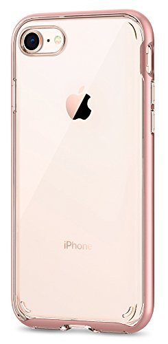 Price comparison product image Spigen Neo Hybrid Crystal [2nd Generation] iPhone 8 Case / iPhone 7 Case with Clear Hard Casing and Reinforced Hard Bumper Frame for Apple iPhone 8 (2017) / iPhone 7 (2016) - Rose Gold