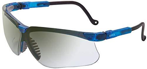 UVEX by Honeywell 763-S3244 Genesis Safety Eyewear, Vapor Blue Frame, SCT-Reflect 50 Lens, Ultra-Dura Anti-scratch Coating (Pack of 10)