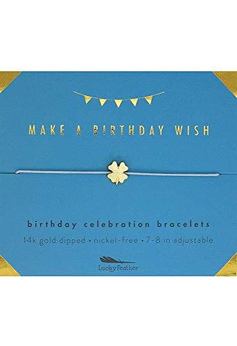 Lucky Feather Birthday Celebration Make a Birthday Wish Bracelet