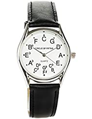 Circle of Fifths Watch for Men - Silver