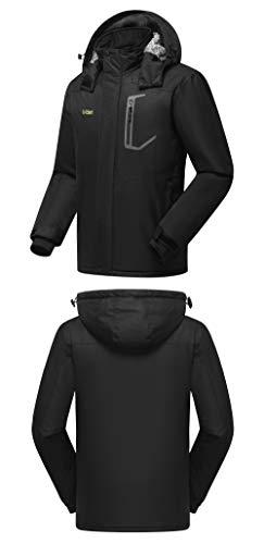d07bf4072b Mden Men s Waterproof Ski Jacket Outdoor Windproof Fleece Insulated  Snowboard Rain Jacket