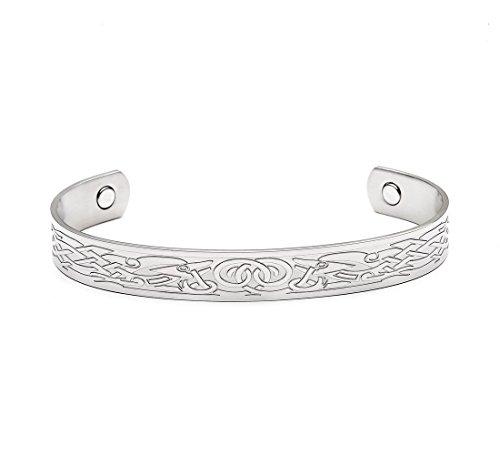 Knotwork Motif Celtic (Celtic Knotwork Design Magnetic Therapy Bangle Bracelet - Available in Multiple Designs (Animal Motif))