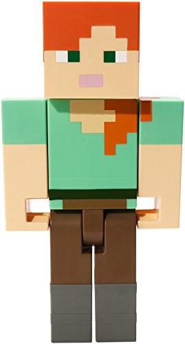 Mattel FLC72 Minecraft Alex Action Figure Large Scale, 8.5