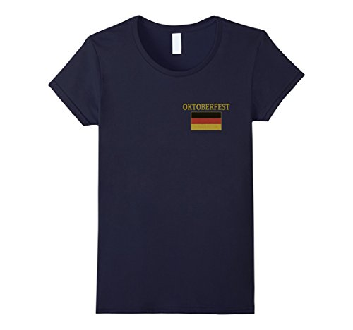 Germany Costume Ideas (Womens Oktoberfest T Shirt Germany Drinking Beer Octoberfest Party Small Navy)