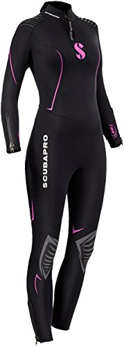 Scubapro Women's Definition Steamer 3mm Wetsuit, X-Small - Black/Pink by Scubapro (Image #1)
