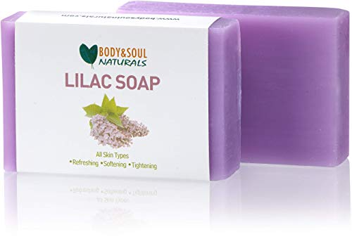 Body and Soul Naturals Lilac Natural Soap 3.5 Ounces (Pack of 3)