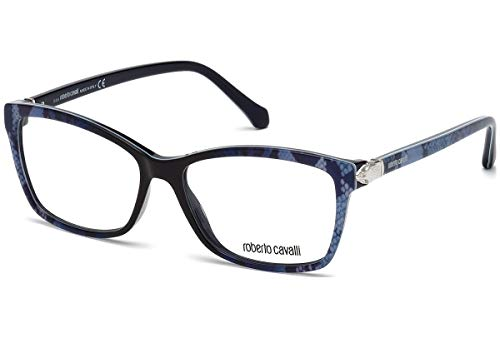 (Roberto Cavalli RC0940 - 092 Eyeglass Frame blue frame w/ Clear Demo Lens 55mm)