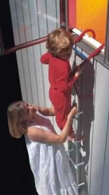 4. ResQLadder Fire Escape Ladder, 4 Story Portable Emergency Escape Ladder, 35-Foot with Sleeves on Chain, FL35SL