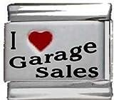 I Heart Garage Sales Red Heart Laser Italian Charm