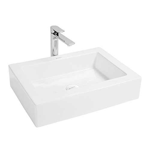 (Swiss Madison Voltaire Ceramic Rectangle Vessel Sink )
