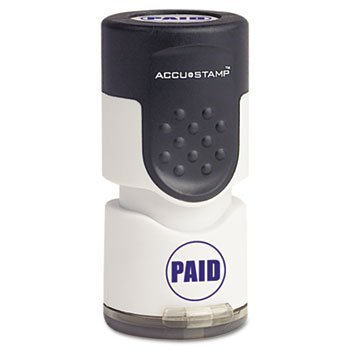 COS035659 - Accustamp Pre-Inked Round Stamp with - Pre Accustamp Inked