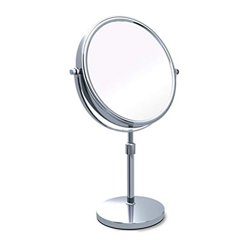 Makeup Mirror Double-Sided 8-Inch 360°Rotating Tabletop Adjustable Height Vanity Mirror, Optional 3X/5X/7X/10X -