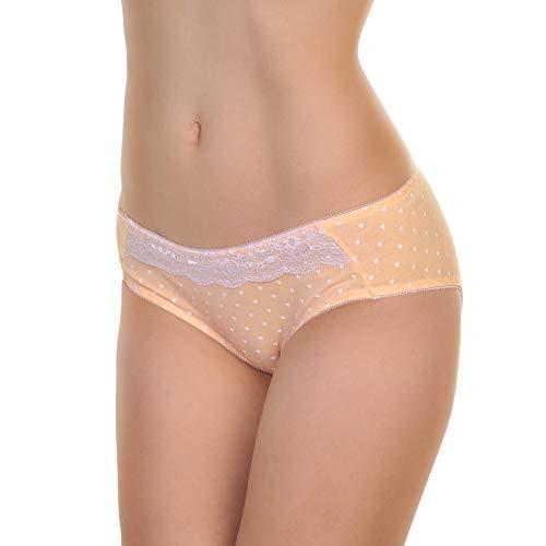 Angelina Women's Cotton Bikini Panties with Heart Print Design (6-Pack), G6347_US