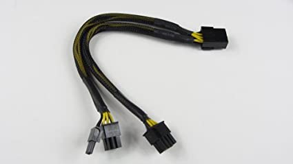 Amazoncom Pci Express Pcie 8 Pin To Dual 8 62 Pin Video Card Y