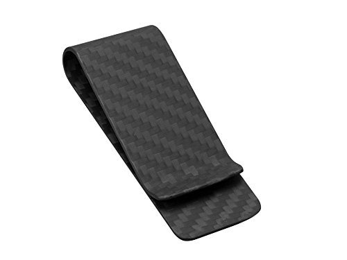 Carbon Fiber Money Clip Wallet-CL CARBONLIFE Business Card Holder Clips For Men M Black Matt ()